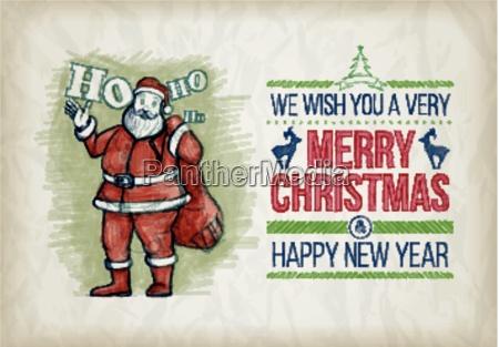 vector hand weihnachten grafik design skizze