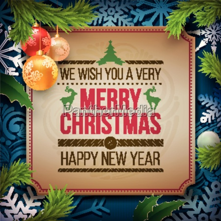 vector christmas and new year wishes