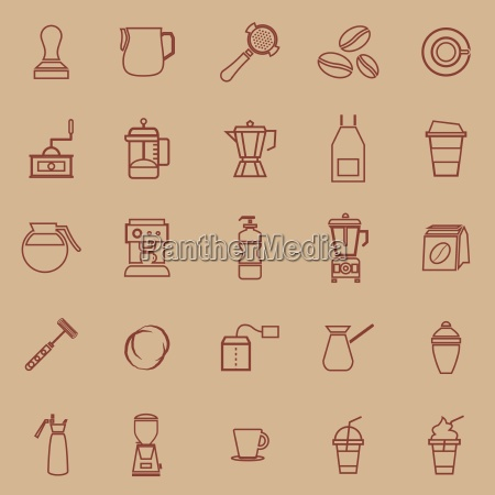 vector icons on color background