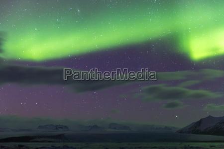 aurora borealis glacier island