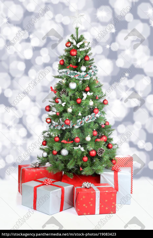 weihnachtsbaum weihnachten banner dekoration schnee stockfoto 19083423 bildagentur. Black Bedroom Furniture Sets. Home Design Ideas