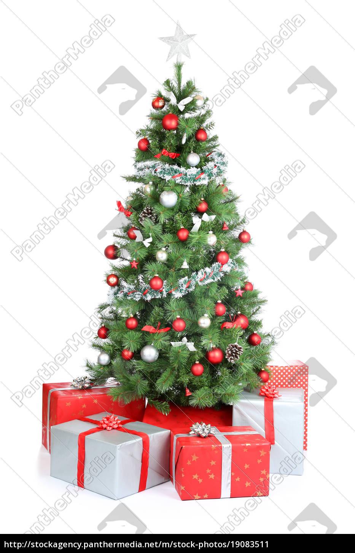 Weihnachtsbaum Weihnachtsgeschenke Geschenke - Lizenzfreies Bild ...