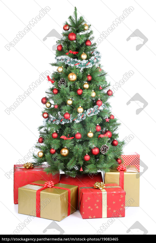 weihnachtsbaum weihnachtsgeschenke geschenke - stockfoto