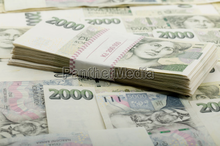 tschechische banknoten nennwert ein und zweitausend
