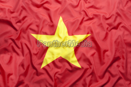 textile flag of vietnam