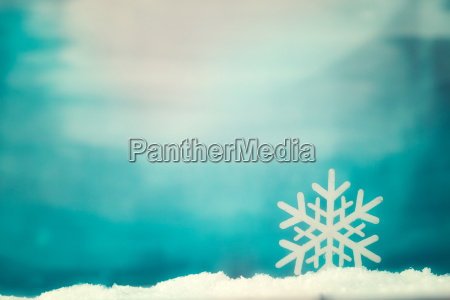 christmas background on snow
