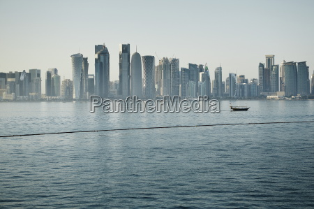 downtown doha with its impressive skyline