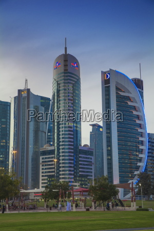 west bay buildings doha qatar middle