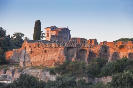 view of palatino rome lazio italy