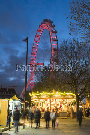 christmas market in jubilee gardens with