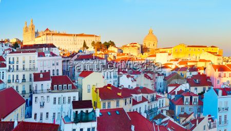 old town of lisbon portugal