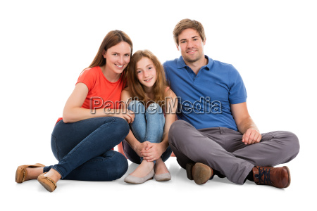 family sitting together