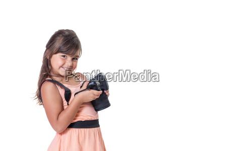 slightly skewed little girl is