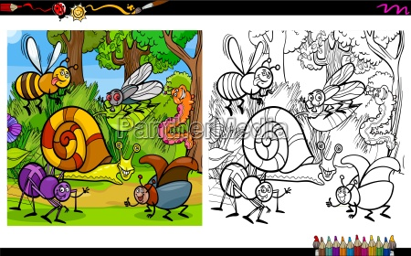 insect characters coloring page