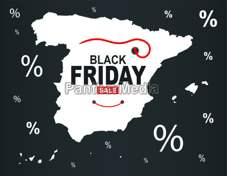black friday map spanien