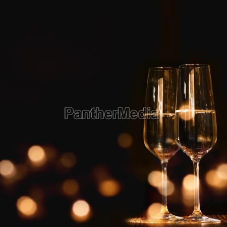 champagne glasses for festive occasion