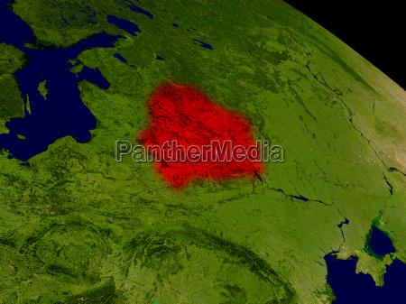 belarus aus dem weltraum