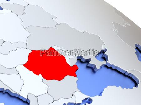 rumaenien auf weltkarte