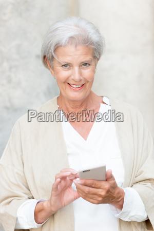 aktive seniorin