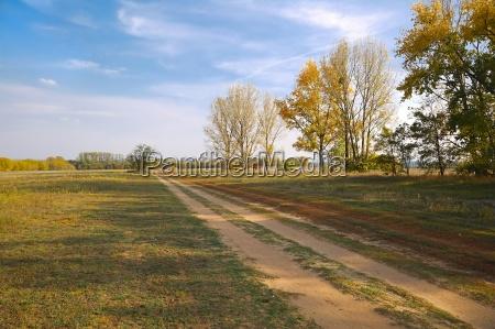 barren field in the countryside