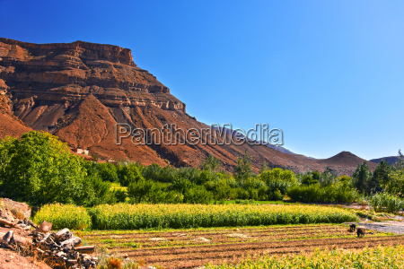 landscape view of high atlas mountains