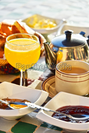 moroccan breakfast served on hotel terace
