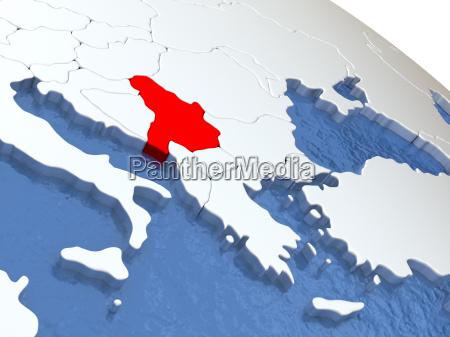 serbien auf der welt