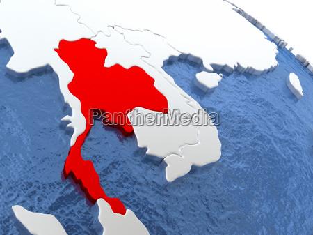 thailand auf globus