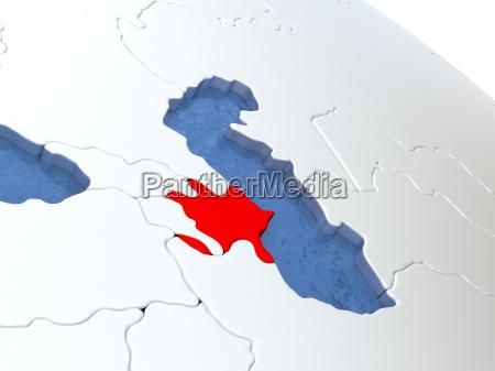 aserbaidschan auf dem globus