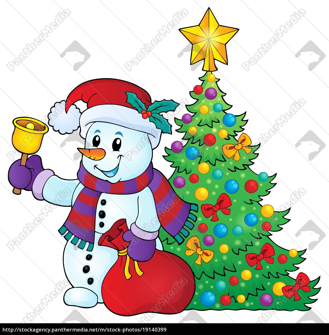 weihnachten schneemann thema bild 3 - Stockfoto - #19140399 ...