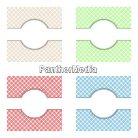 tischdeckenmuster in 4 farben mit textfreiraum