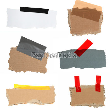 cardboard with tape