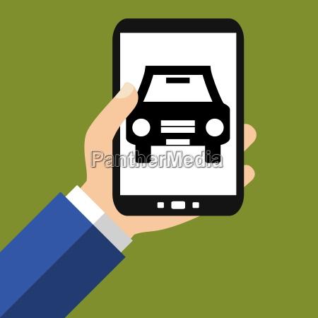 auto informationen auf dem smartphone