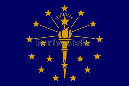 flagge von indiana in der richtigen