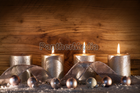 silver candles for the 3 advent