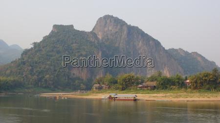 landschaft nahe luang prabang laos asien
