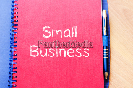 small business text concept on notebook