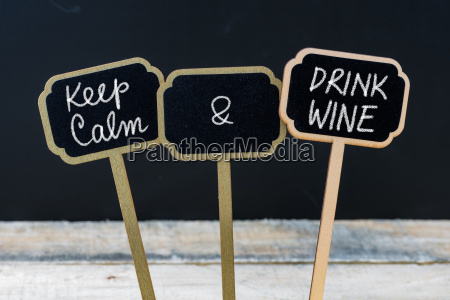 keep calm and drink wine message