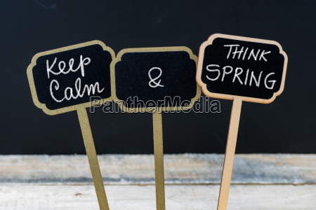 keep calm and think spring message