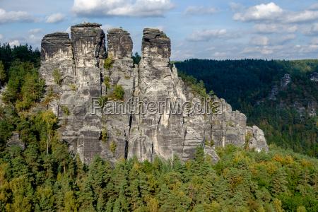 nationalpark saechsische schweiz elbsandsteingebirge bastei