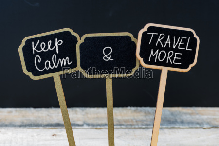 keep calm and travel more message