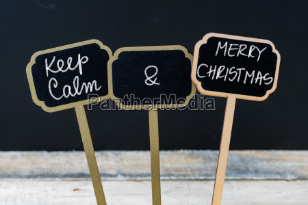 keep calm and merry christmas message