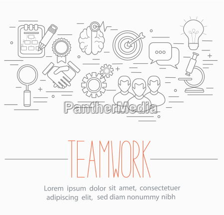 business teamwork symbols