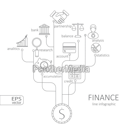 banking and savings finance infographic