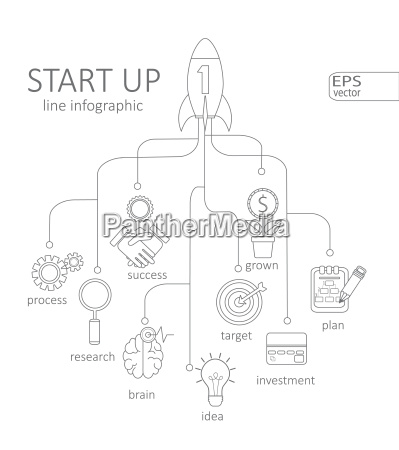 infographic startup concept