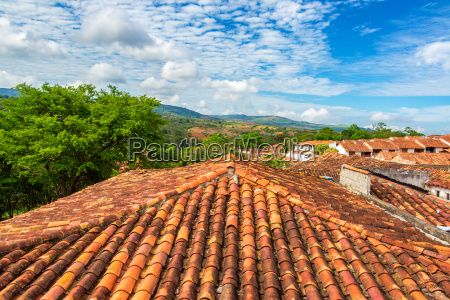 rooftops in barichara colombia