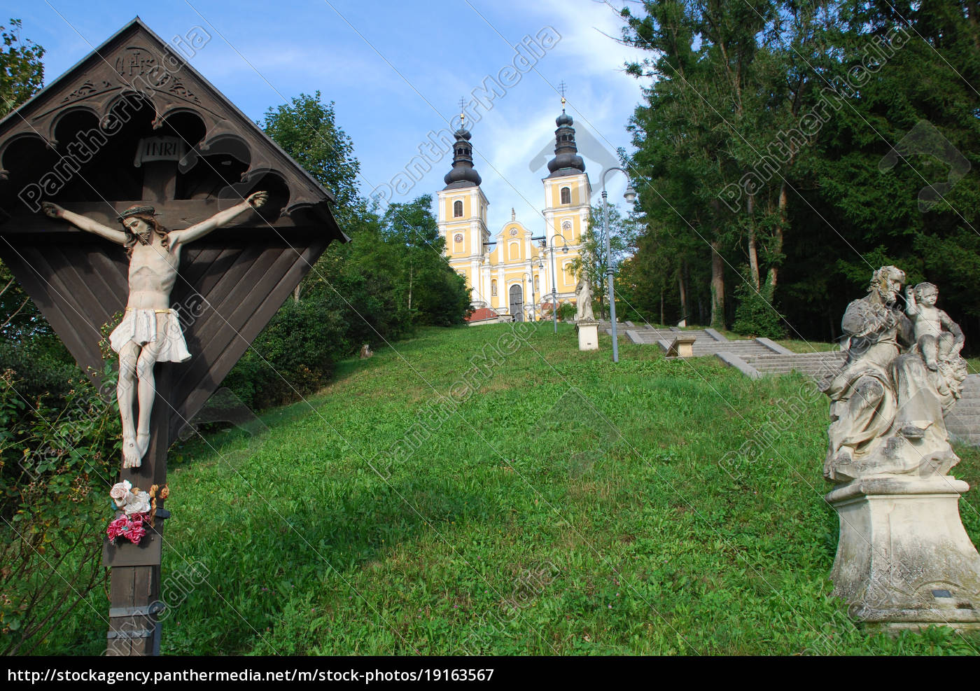 basilika, maria, trost, mariatrost, graz, steiermark - 19163567