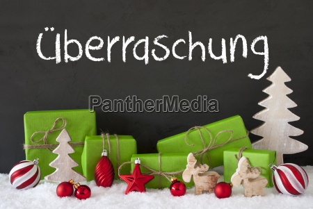 christmas decoration cement snow ueberraschung means