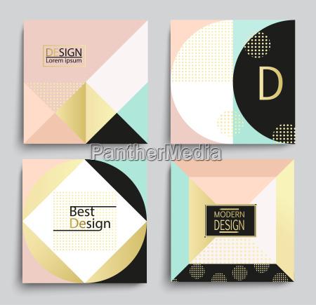 set von elegantem geometrischem bannervorlagen design