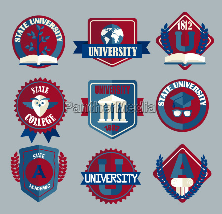 vector set of university and college